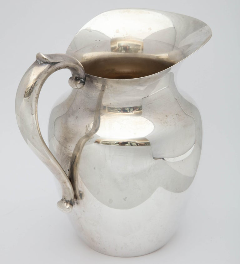 American Art Deco Sterling Silver Water Pitcher For Sale