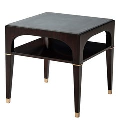 Art Deco Stone Top Side Table