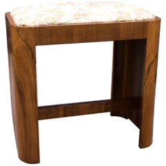 Art Deco Stool in Figured Walnut, circa 1930