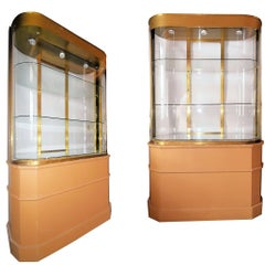 Art Deco Store Display Bronze Cabinet/Room Divider from Bullocks Wilshire, Pair