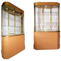 Art Deco Store Display Cabinet/Divider from Bullocks Wilshire, Pair