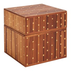 Art Deco Straw Marquetry Box