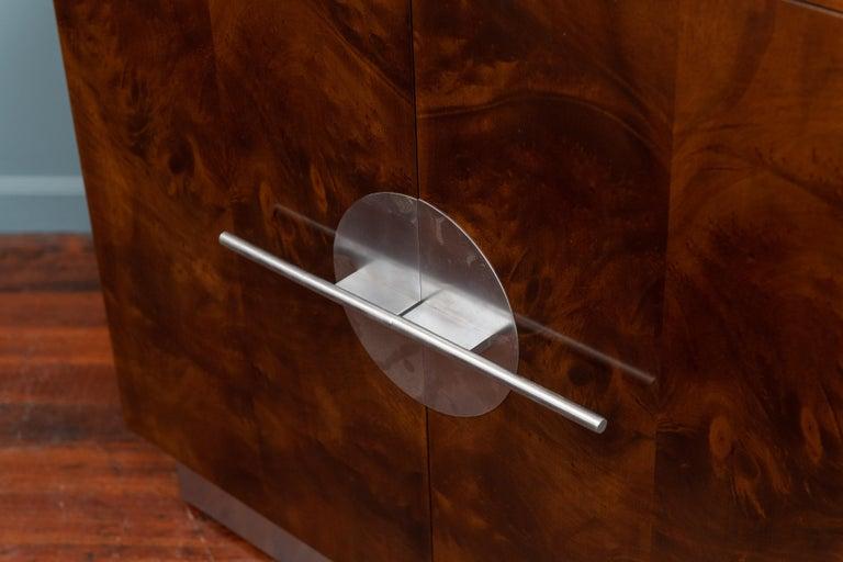 Burl Art Deco Streamline Cabinet by Walter Dorwin Teague For Sale