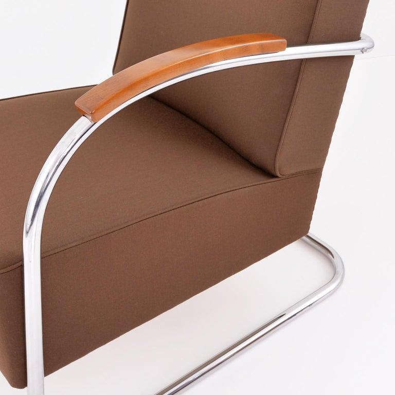 Art Déco Streamline Tubular Steel Cantilever Armchair, Germany, 2015 For Sale 2