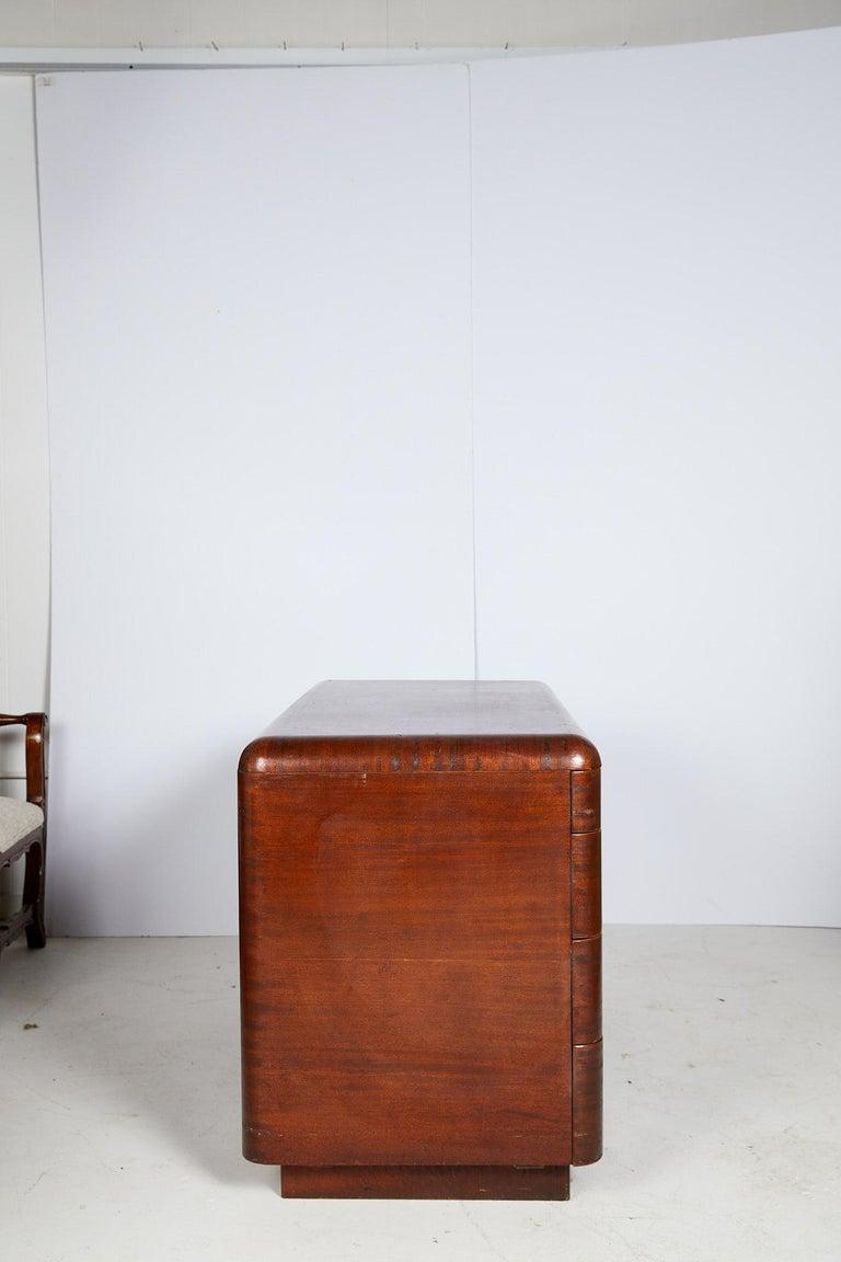 Art Deco Streamlined Bentwood Pedestal Desk by Paul Goldman for Plymold Co. 1