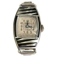 Art Deco Stunning and Original Ladies Manual Wristwatch by Didsheim, circa 1930