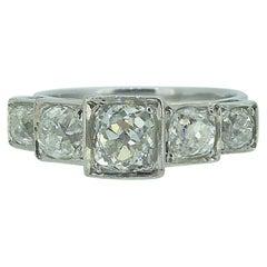Art Deco Style 1.75 Carat Old Cut Diamond Ring, circa 1930s-1940s