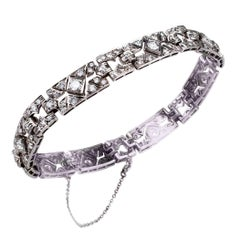 Art Deco Style  4.25 Carat Diamond Platinum Bracelet