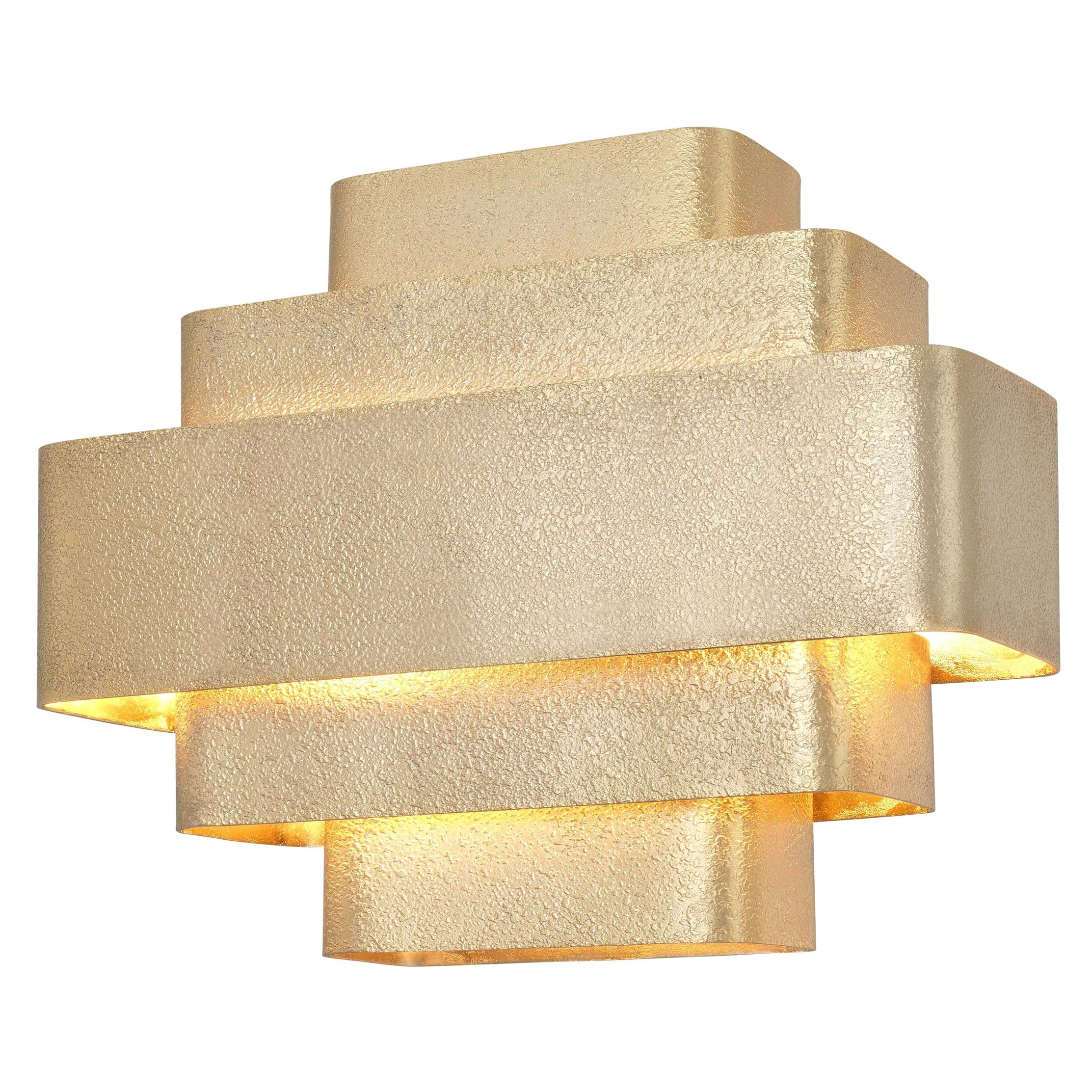 Art Deco Style and Dutch Design Textured Wall Light