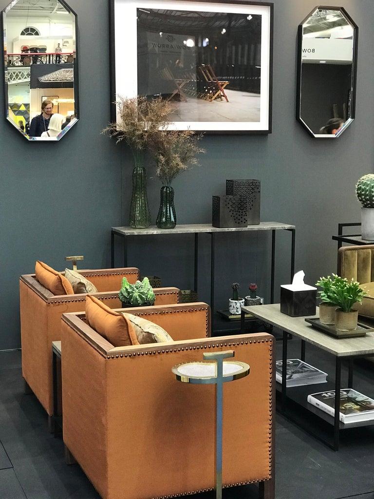 Art Deco Style Bacco Armchair in Natural Walnut & Velvet Dedar - Showroom items For Sale 1