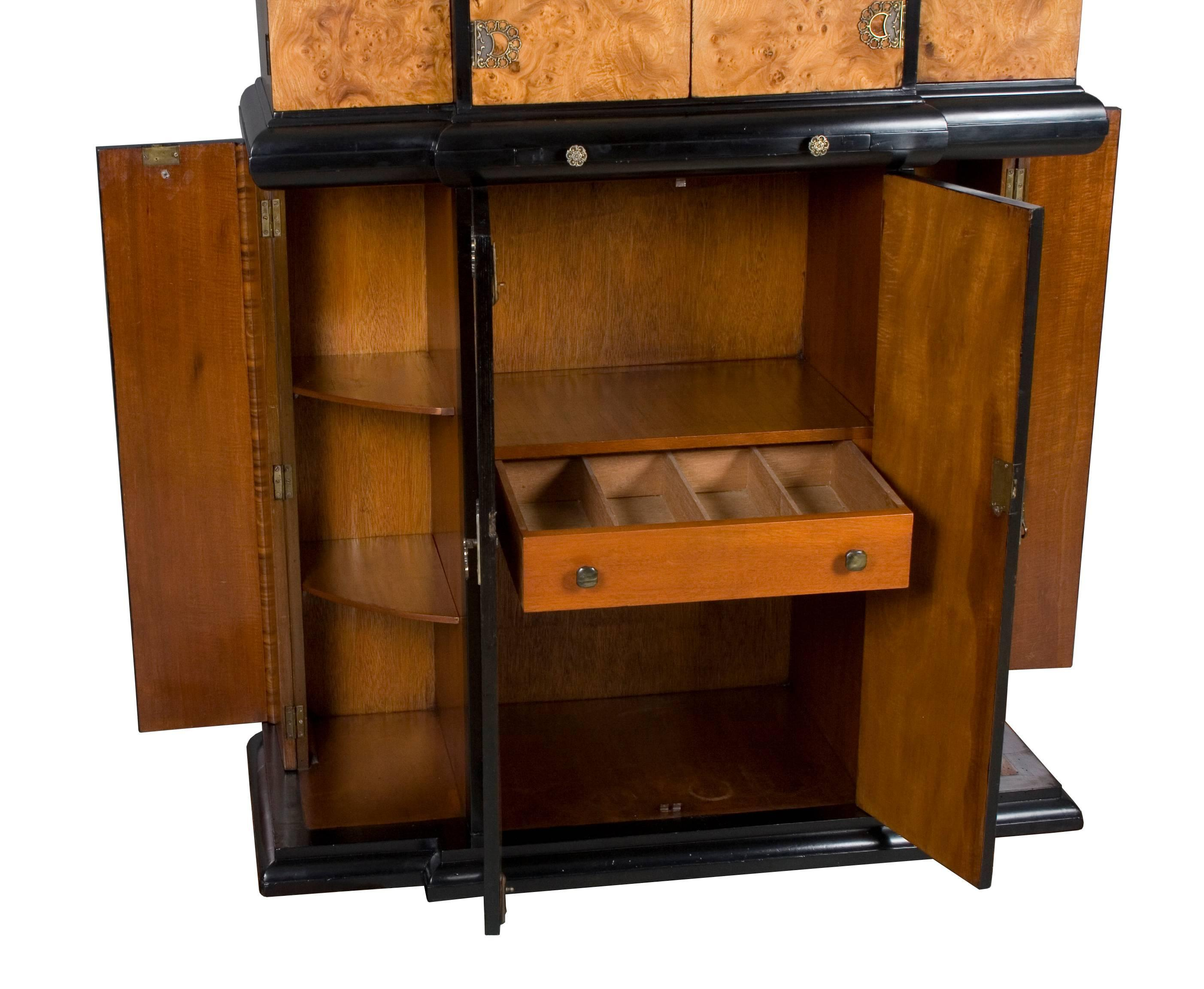 Art Deco Style Bar Liquor Cabinet For Sale 1