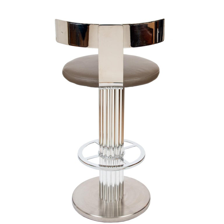 American Art Deco Style Bar Stools by Designs for Leisure, USA, circa 1988 For Sale