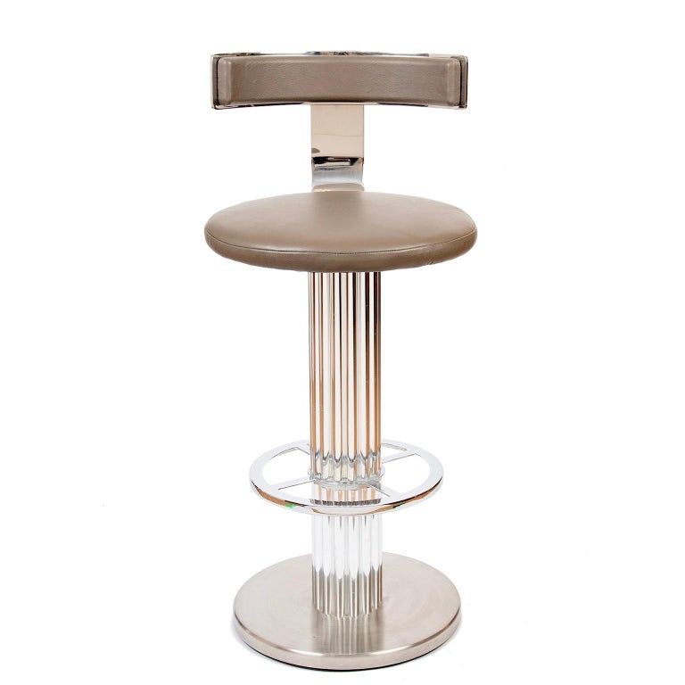 Art Deco Style Bar Stools by Designs for Leisure, USA, circa 1988 For Sale 1