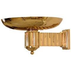Art Deco Style Bauhaus Brass Torch/Wall-Lamp, Re-Edition