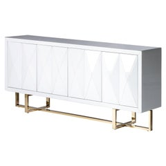 Art Deco Style Beveled Glass Design Sideboard