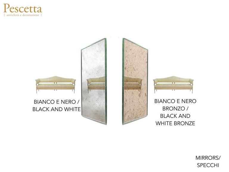 Art Deco Style Customizable Octagonal Brass Window Look Mirror  For Sale 7