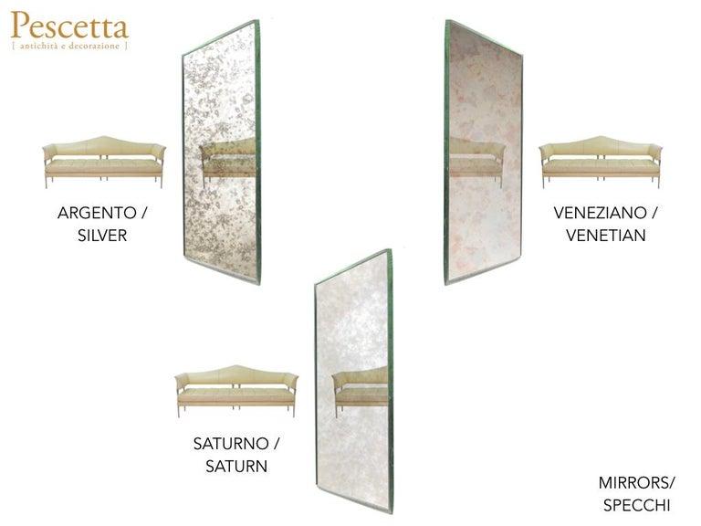 Art Deco Style Customizable Octagonal Brass Window Look Mirror  For Sale 3
