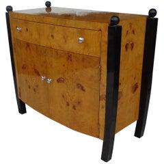Art Deco Style Burl Cabinet Sideboard Server
