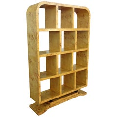 Art Deco Style Burl Display Bookcase