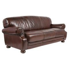 Art Deco Style Club Leather Sofa