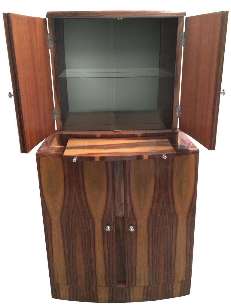 Art Deco Style Cocktail Cabinet Dry Bar 4