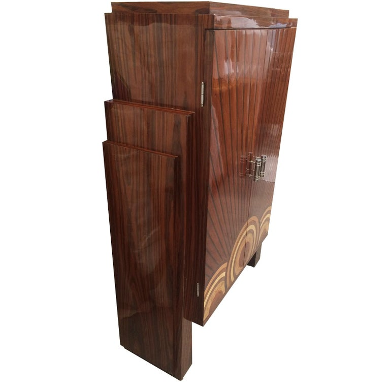 Art Deco Style Cocktail Cabinet Dry Bar  For Sale 1