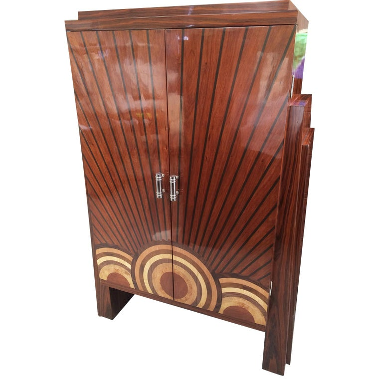 Art Deco Style Cocktail Cabinet Dry Bar  For Sale