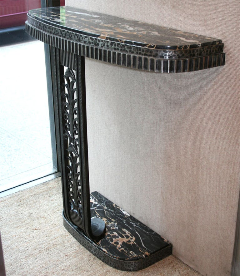 Art Deco Style Console Table after Edgar Brandt For Sale 3
