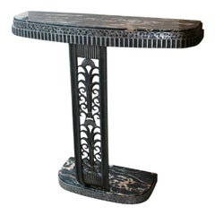 Art Deco Style Console Table after Edgar Brandt