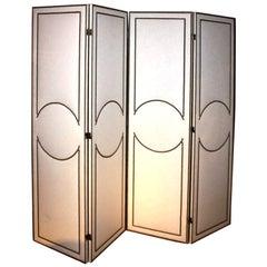 Art-Deco Style Custom 4-Panel Screen