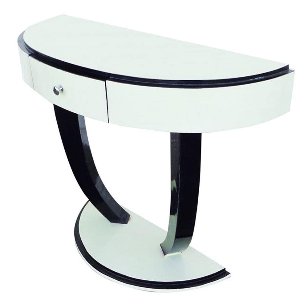 Art Deco Style Demilune Console Table