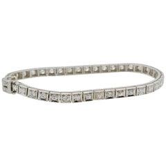 Diamond and Platinum Tennis Bracelet 1960
