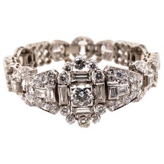 Art Deco Style Diamond Bracelet in Platinum 950