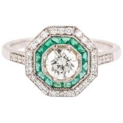 Emerald Bridal Rings