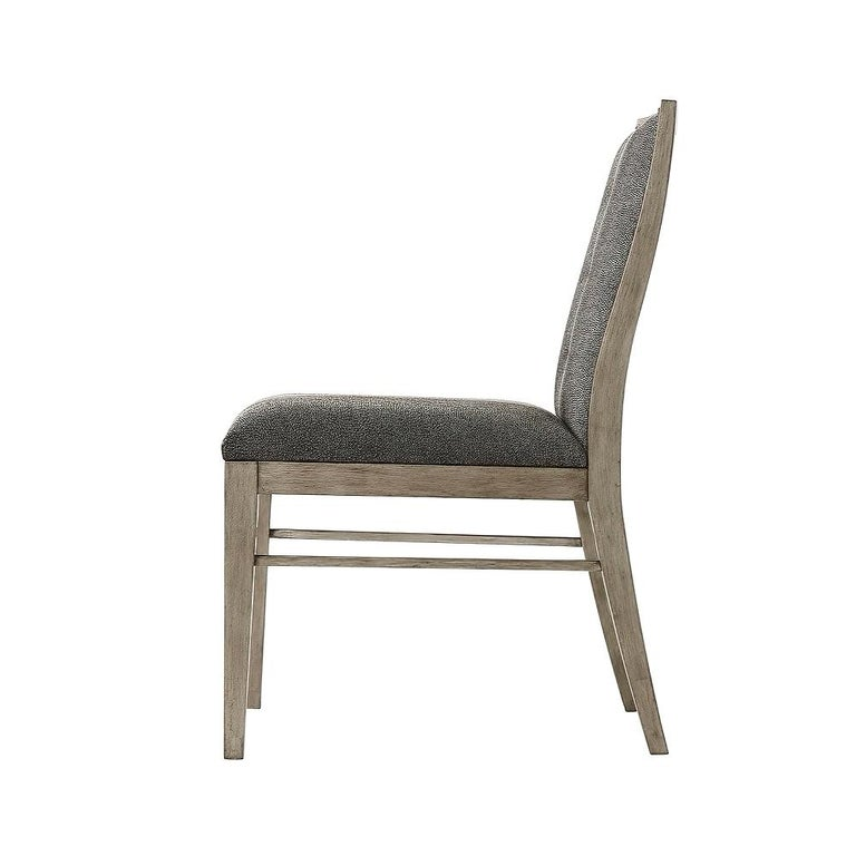 Art Deco style armchair hand brushed pewter finished with upholstered back, outside back and seat on square tapered legs.   Dimensions: 23