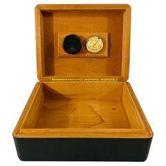 Art Deco Style Ebonized Humidor or Cigar Box