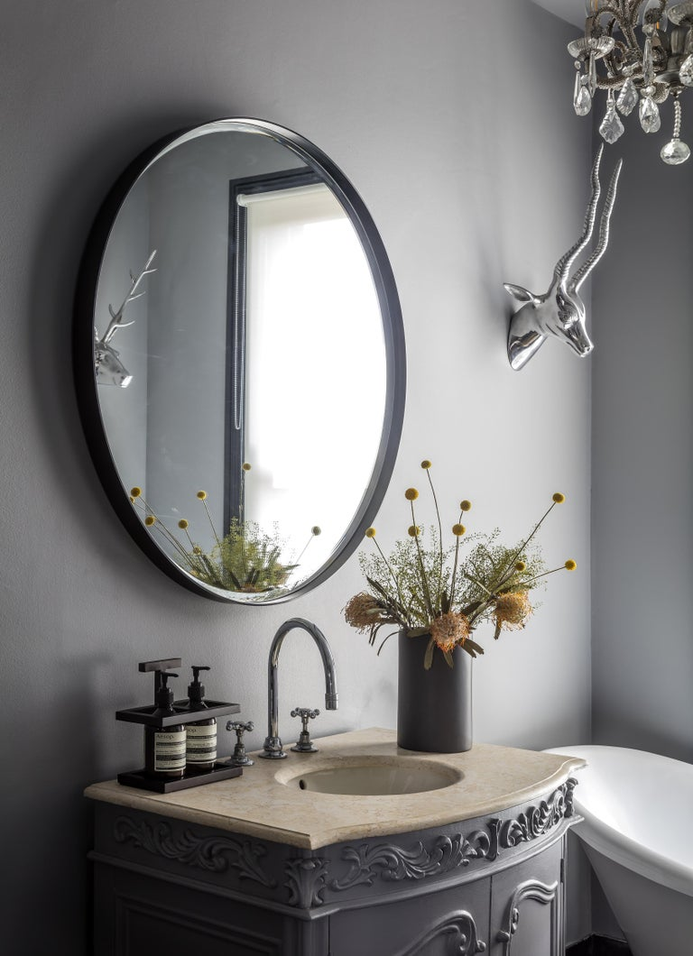 Mirrors are sometimes overrated with lack of design and personality. Eros defies these ideas with a antique-style mirror and a delicate, beveled Art Deco frame available in solid brass as well as steel powder-coated. Designed to be displayed in