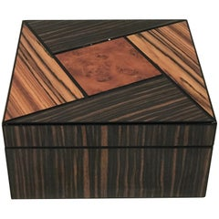 Art Deco Style Exotic Woods Box or Humidor