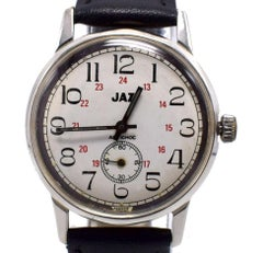 Art Deco Style Gents Wrist Watch by Jaz, French, c1930