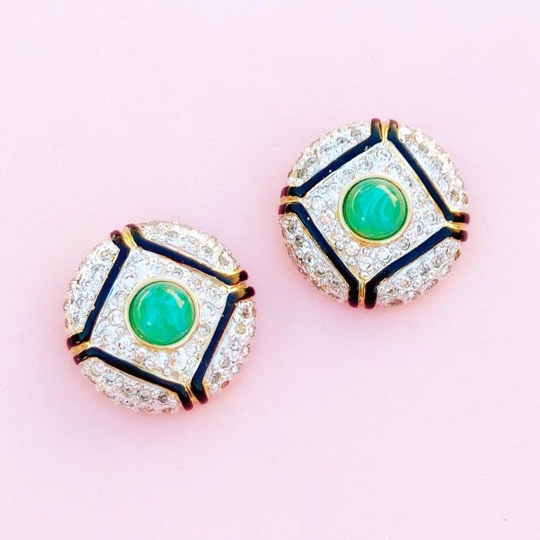 - Vintage item  - Each earring measures 1