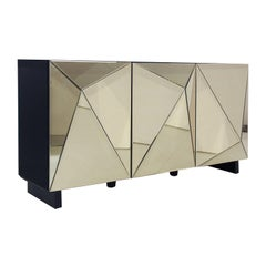 Art Deco Style Gold Mirrored Sideboard