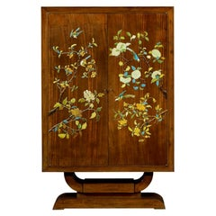 Art Deco Style Hand Painted Cabinet