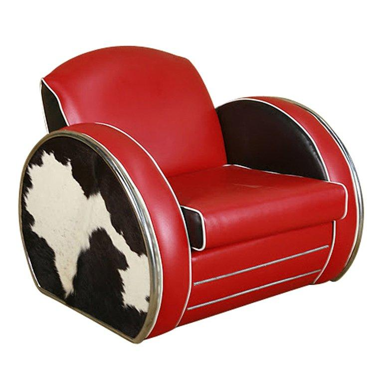 Art Deco Style Jazz Club Chair In The Manner Of Donald