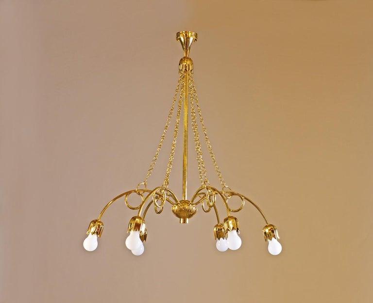 Austrian Art Deco Style Josef Hoffmann & Wiener Werkstätte Chandelier, Re Edition For Sale