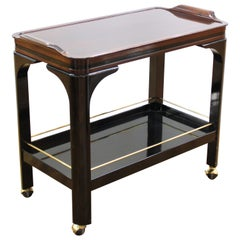 Art Deco Style Lacquered Wood Bar Cart
