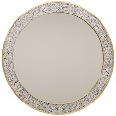 Art Deco Style L'Oeuf Mirror with Hand-Cracked Eggshell and Lacquer Frame
