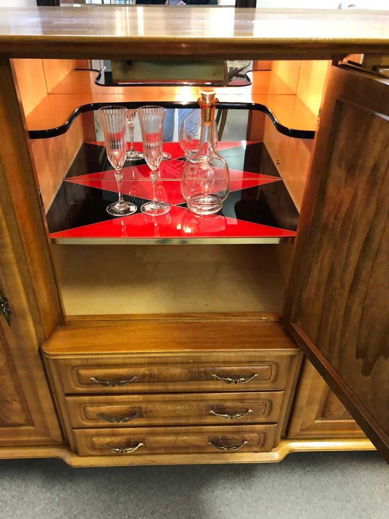 Italian Art Deco Style Medium Sideboard, Mid-Century Modern For Sale