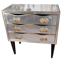 Art Deco Style Mirrored Commode