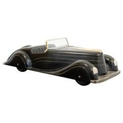 Art Deco Style Modern Ralph Lauren Black Mercedes Model Car Table Sculpture