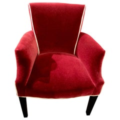 Art Deco Style Mohair Side Chairs